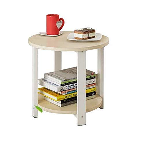 Table Petit RMJAI Portable Lit D'appoint Rond De Lit Canapé Simple portable Table Canapé d'ordinateur Coin Rond Côté Table Moderne Armoire Plusieurs 4ALRjqc3S5