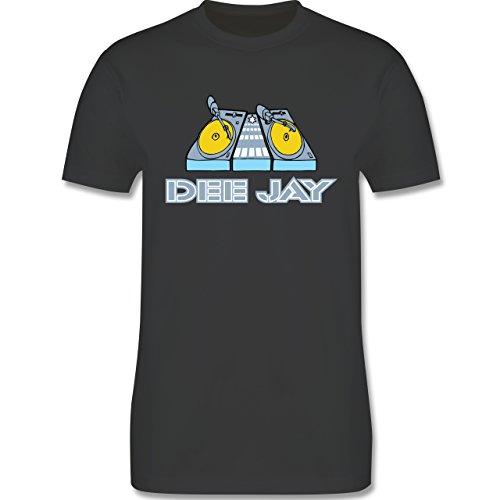 DJ - Discjockey - Discjockey - Herren Premium T-Shirt Dunkelgrau