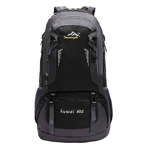 Imagen de deportiva bolsa  bolsos  impermeable 60l al aire libre de excursión de deporte montaña acampada ciclismo  negro, 61 x 37 x 21 cm