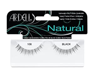 Ardell Natural Style Number 108 Eye Lashes, Demi Black