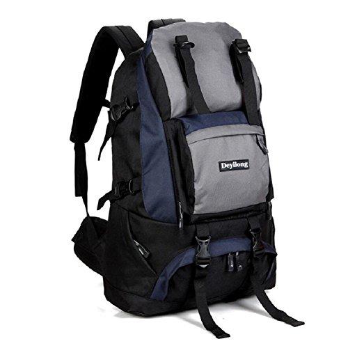 LF&F Hochwertige Nylon 40L Kapazität Outdoor Sport Bergsteigen Klettern Camping Rucksack Wandergepäcktasche Umhängetasche Multifunktionsrucksack Unisex C