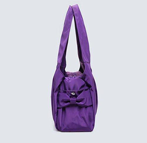 Fansela Fashion Freizeittasche Handtasche Damen Bag Schultertasche Nylon Tasche Shoulder Bag shopper, Grün Dunkellila
