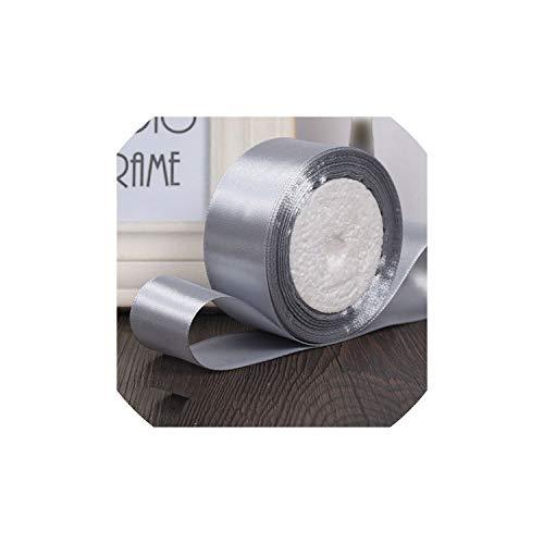 25yards / Rolle 6mm 10mm 15mm 20mm 25mm 40mm 50mm Silk Satin-Bänder Kunsthandwerk Nähen Band Kunsthandwerk Materialien Geschenkpapier, Silber, 40mm