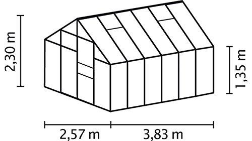 Vitavia Set Merkur 8300, profondeur : : 254 x 317 cm Vert Argenté