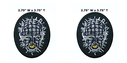 Applikation Classic Halloween Friday, The 13th Hellraiser Cosplay Badge bestickt zum Aufnähen oder Aufnähen, 2er Pack Geschenkset