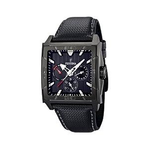 Reloj Festina F16569/4 de caballero de cuarzo con correa de piel negra de Festina
