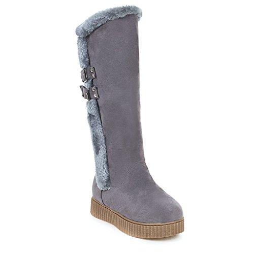CXQ-Stivali QIN&X Donna fondo spesso Chunky Heel lunghi stivali scarpe Grey