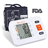 COULAX Blood Pressure Monitor with Upper Arm Cuff and Extra Large Screen Digital Screen, BP Machine Fits Standard and Large Arms, Tracker, FDA and CE Approved
