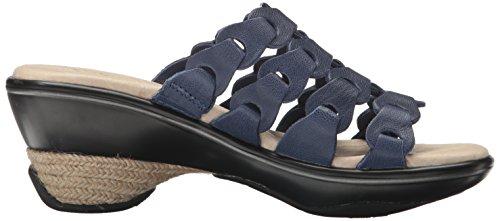 Jambu Romance Damen Leder Sandale Navy