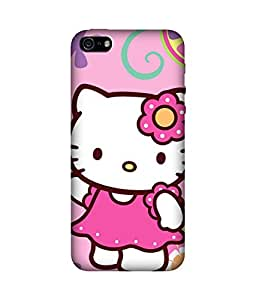 chnno Hello Kitty 3D Printed Back cover for Apple iPhone 5s
