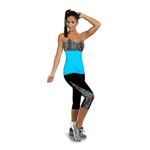 Leggings deportivos mujer cortos   ❤️ Amlaiworld Mallas Mujer Leggins Leggings de running Polainas de Fitness de Yoga Floral para Mujeres Pantalón 3/4 de señora Gym Slim recortada