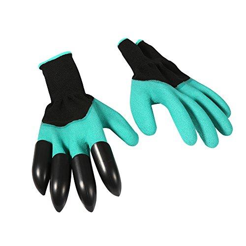 guanti con artigli Zerodis 1 Paio Guanti da Giardinaggio Attrezzo Resistente con Punte delle Dita Artigli per Scavare Piantare Piante da Vivaio Potatura Migliore Regalo per Giardinaggio Indoor Outdoor