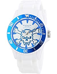 Madison New York analog Stay Alive multi-color dial Unisex watch - U4618-06