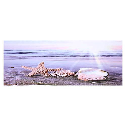 Aquarium Poster Aquarium Rückwandfolie Aquarium Hintergrund 3D Effekt Klebstoff Strand Sonnenaufgang Poster Doppelseitig Hintergrund Aquarium Dekorationen Bilder(61 * 41cm)