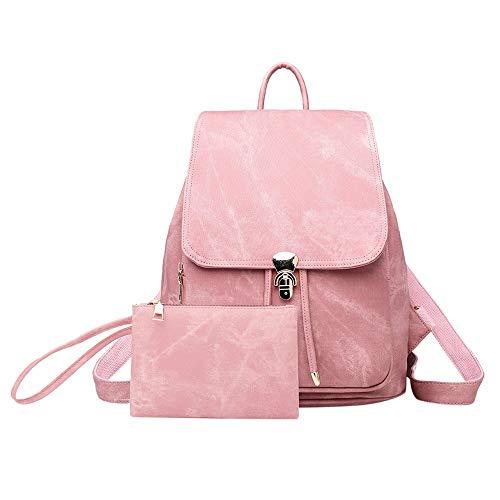 (Staresen Damenrucksack Reiserucksack Damen Modern ShopperTasche Weicher Lederrucksack für Damen Nachahmung Denim Tasche Mode Vintage Rucksack(27cmx20cmx33cm))