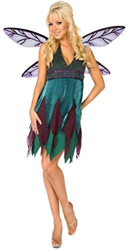 Karneval-Klamotten Kostüm Elfe Fee Waldfee Damen sexy Kleid inkl. Feen-Flügel Karneval Fasching Größe 48/50