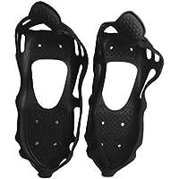 24 Dientes Antideslizantes Zapatos de Escalada en Hielo para Hielo Cubierta antirresbaladiza Spike Cleats Crampones para montañismo Escalada en Roca