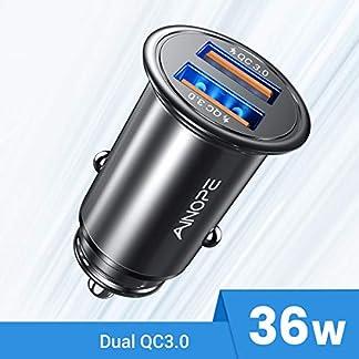 AINOPE-Zigarettenanznder-USB-Ladegert-Dual-QC30-Port-36W6A-Auto-Ladegert-Mini-Metal-Legierung-KFZ-Ladegert-Schnellladung-Kompatibel-mit-iPhone-11-Note-9Galaxy-S10S9S8-iPad-1-Pack