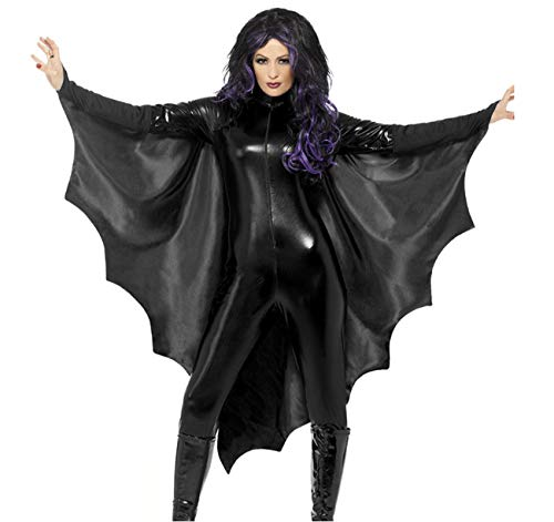 Huaishu Women Es Halloween Kostüm Party Erwachsene Black Bat Wings,S