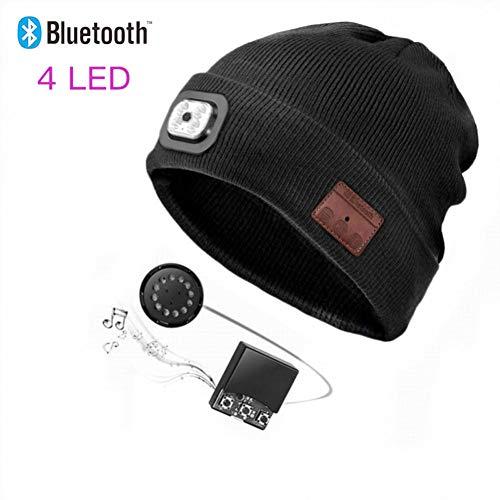 Wingbind Gorro Lana Bluetooth luz LED Cabeza, Recargable