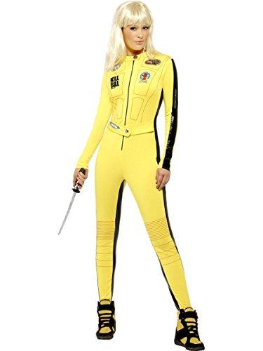 Kill Kostüm Bill Uma - Smiffys Damen Kostüm Kill Bill Overall Schwert Karneval Fasching Größe M
