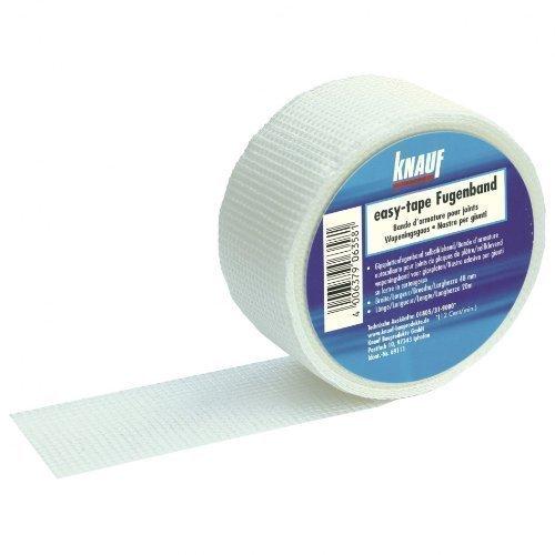 KNAUF easy-tape JUNTA Dilatación Flexible FIBRA DE VIDRIO Autoadhesivo 48mm x 20m