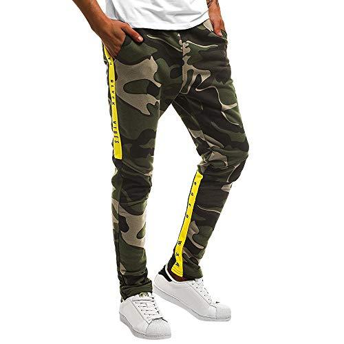 Elecenty Pantaloni Sportivi Uomo Camouflage Tuta Pantaloni casual da lavoro casual taschino sportivo