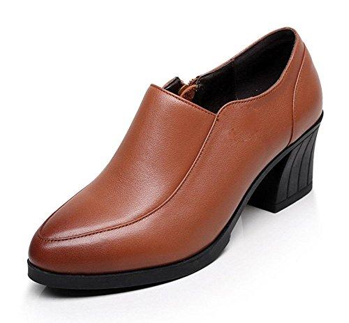 In scarpe con punta di massima con i pattini con le scarpe antiscivolo scarpe casual primavera e in autunno madre yellow brown