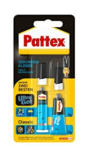 pattex 1464571 fast acting universal adhesive double pack with ultra gel and classic fluid 2 x 3. Black Bedroom Furniture Sets. Home Design Ideas