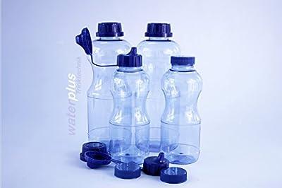 4 x TRITAN Flaschen 2 x 1 Liter (rund) + 2 x 0,5 Liter (rund) + 3 Standdardeckel + 3 Dichtdeckel + 2 Trinkdeckel aus Deutschland ohne Weichmacher (BPA frei) Wasser-flasche-n Sport-flasche-n Flasche-n TRITAN-Flasche-n TRITAN-Trinkflasche-n