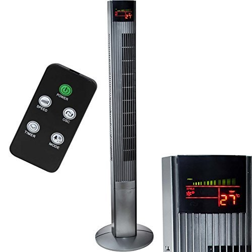 Syntrox Germany XXL Turmventilator TFT-50W Tower Ventilator mit Fernbedienung, Timer und Oszillation