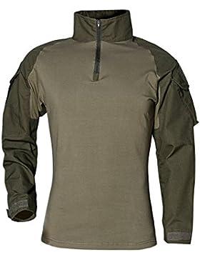 belloo Delgado passen BDU-Tactical-Camiseta de Camo Lucha Airsoft Camiseta con Cremallera