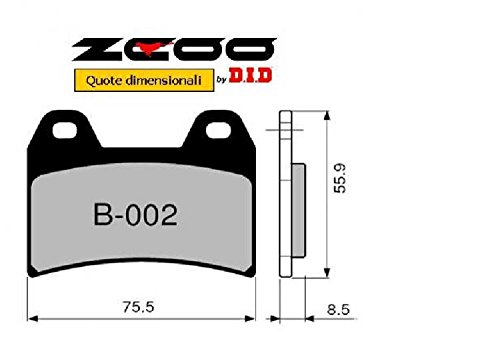 45B00200 PASTIGLIE FRENO ZCOO (B002 EX) DUCATI MONSTER 600 - DARK 2000-2001 (ANTERIORE)