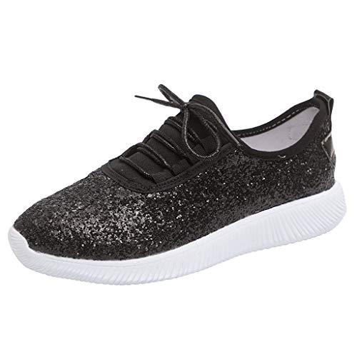 BaZhaHei Sneakers Donna Paillettes,Moda Leggere Respirabile Scarpe Basse Sportive Donne Lace-up Scarpe da Corsa Casual Scarpe da Lavoro Running Fitness Shoes con Sportive All'aperto 35-43