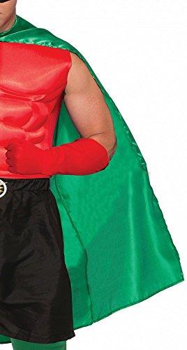 shoperama Accessoires für Superhero Herren Kostüm, Umhang - Grünen Umhang Kostüm