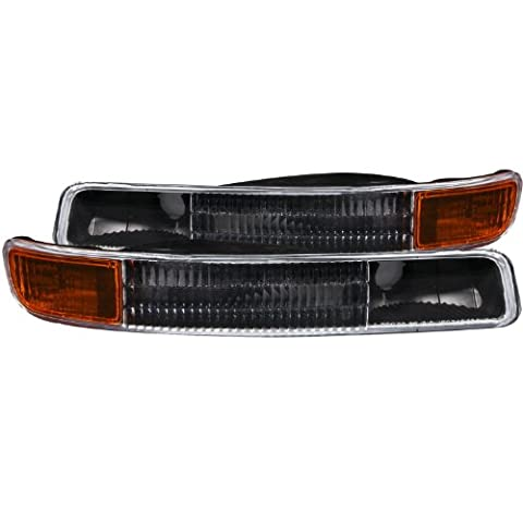 Anzo USA 511005 GMC Black w/Amber Reflector Bumper Light Assembly - (Sold in Pairs) by AnzoUSA