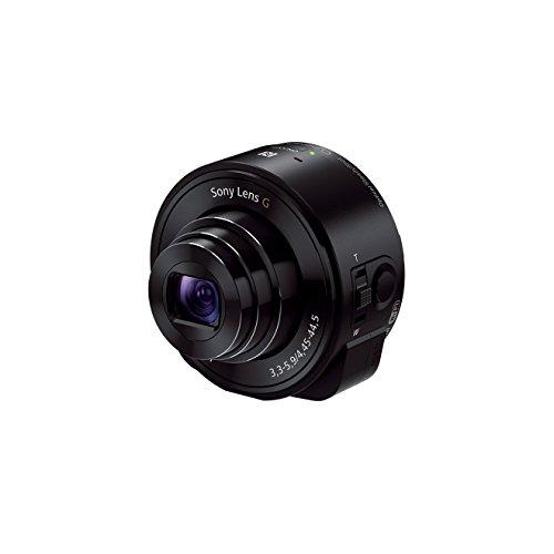 Sony DSC-QX10B Smartshot - Cámara compacta de 18.2 Mp (zoom óptico 10.0x, estabilizador de imagen , vídeo Full HD 1080p, WiFi), negro