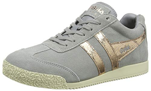 Gola Damen Harrier Mirror Sneaker, Grau (Pale Grey/Rose Gold GY), 39 EU - Gola-damen Klassische Schuhe