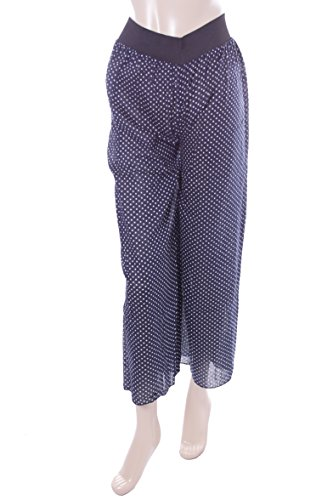 Ladies Blue Polka Dot Palazzo Trousers. Size 14-16