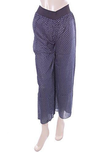 Ladies Blue Polka Dot Palazzo Trousers. Size 14-16
