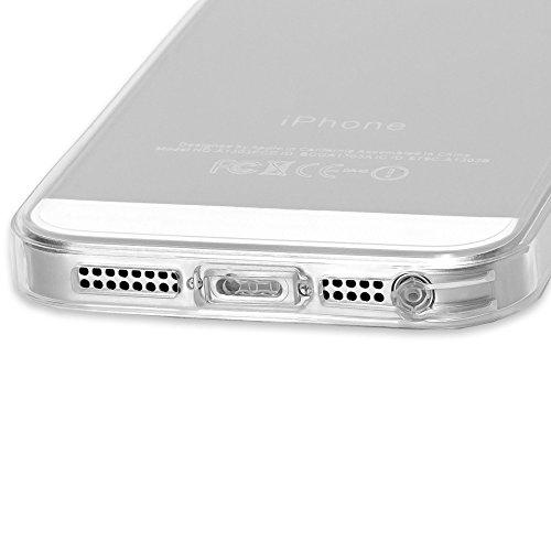 Apple iPhone SE 5 5S Hülle Handyhülle von NICA, Durchsichtiges Slim Silikon Case mit Transparenter Rückseite & Bumper, Crystal Schutzhülle Etui Dünn, Handy-Tasche Back-Cover - Transparent Transparent