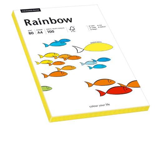 Papyrus 88043185 Druckerpapier Rainbow 80 g/m², A4 100 Blatt neongelb