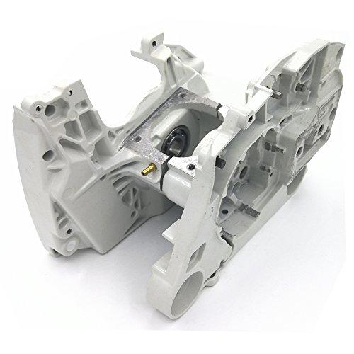 Motor Gehäuse (shioshen Aluminium Kurbelgehäuse Kurbel Fall Motor Gehäuse W Kettenspanner Adjuster für Stihl MS440044Chainsaw Teile 11280202136, 11280202122)