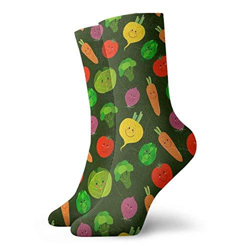 Vegetable Colorful Cute Pattern Novelty Short Crew Socks Casual Athletic Sports Crew Tube Socks -