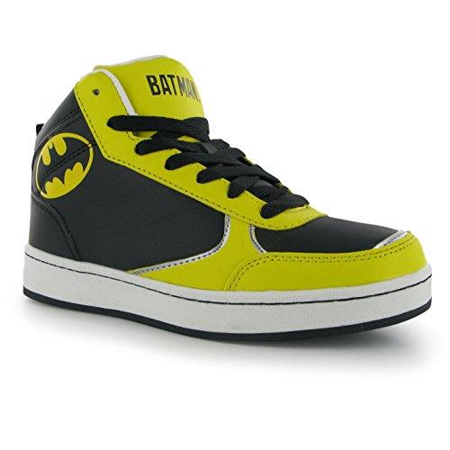 DC Comics Batman Hi Top Turnschuhe Juniors schwarz Sneakers Schuhe Schuhe, schwarz, (UK6.5) (EU40) (Batman Turnschuhe)