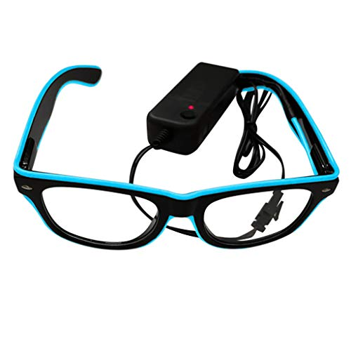 HET Unisex LED Brille Lustige Club Party Leuchten Brille Brille Hell Blinkend Mit Brill Batteriekasten