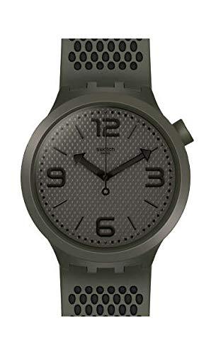 Swatch Herren Analog Quarz Uhr mit Silikon Armband SO27M100 - Uhren Swatch Von