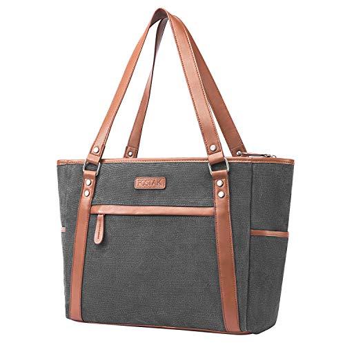 d1939c659066c FOSTAK Damen Umhängetasche Aktentasche Schultertasche Reisetasche  Handtasche stilvoll Shopper Fraue Tasche Messenger Bag Tote Bag   Business  Arbeitstasche ...