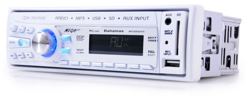 Ett Volldigitales Auto Car HiFi Radio Autoradio MP3 USB SD Display MEGAKICK Bahamas 4-port-co-card