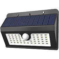 LEMOMO Luces solares al Aire Libre a Prueba de Agua 45 LED Luces del Sensor de